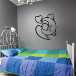 Moon with Hearts Decal