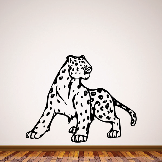 Leopard Turning Decal
