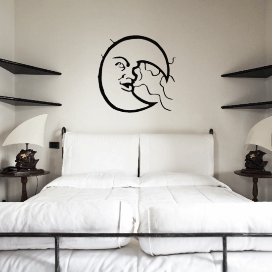 Moon Blowing Clouds Decal