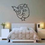 Moon and Dolphins Decal