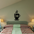Tall Hot Coffee Cup Decal