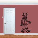 Man X ray Wall Decal - Vinyl Decal - Car Decal - Business Decal - MC37