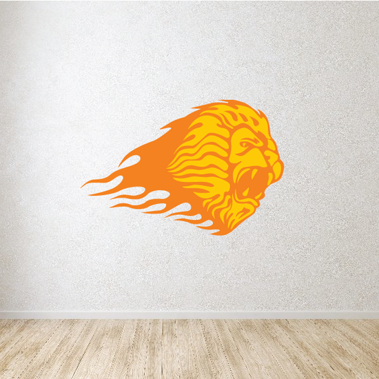 Blazing Lion Head Sticker
