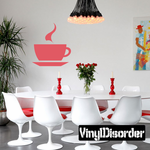 Steaming Coffee Cup Decal