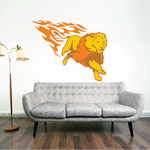 Fire Charging Lion Sticker