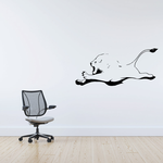 Lion Leaping Decal