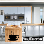Scorching Coffee Cup Decal