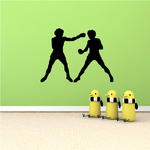 Young Sparing Boxers Decal