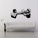 Boxers Blocking Punch Decal
