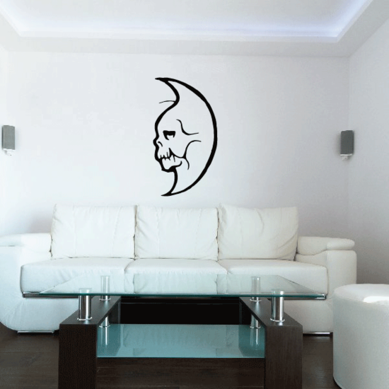 Old Skeleton Moon Decal