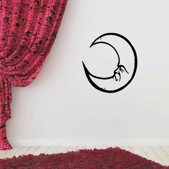Dreaming Crescent Moon Decal