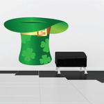 Bright Upside Down Top Hat Clovers St Patrick's Day Sticker