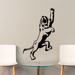 Reaching Lion Decal