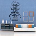 May your troubles be less Irish Blessing Wall Decal