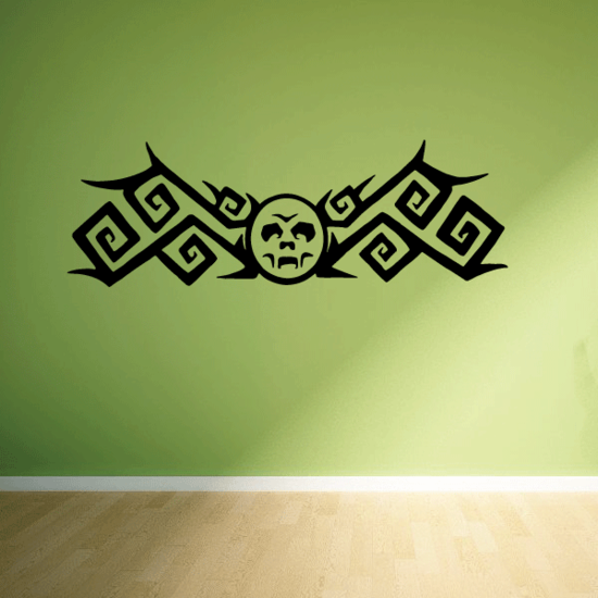 Tribal Moon with Fangs Decal