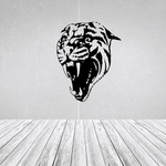 Snarling Wild Cat Decal