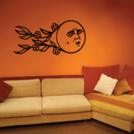 Floating Moon Decal