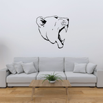 Roaring Lioness Head Decal