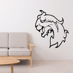 Medieval Lion Head Decal