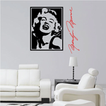 Marilyn Monroe Portrait and Signature Wall Decal