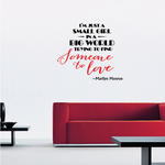 I am Just A Small Girl In A Big World Trying To Find Someone To Love Marilyn Monroe Wall Decal