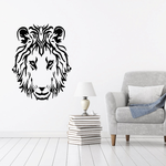 Fearless Lion Head Decal