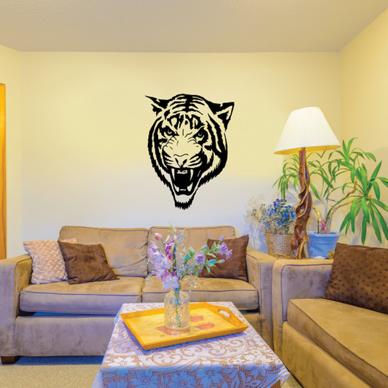 Snarling Tiger Head Decal