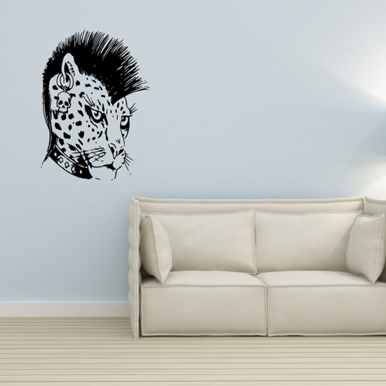 Wild Cat with Mohawk Decal