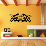 Happy Tribal Moon Decal