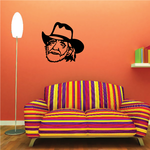 Willie Nelson Face Decal