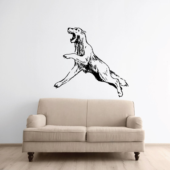Leaping Coyote Decal