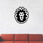 Minimal Lion Head Staring Decal