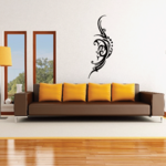 Tribal Crescent Moon Face Decal