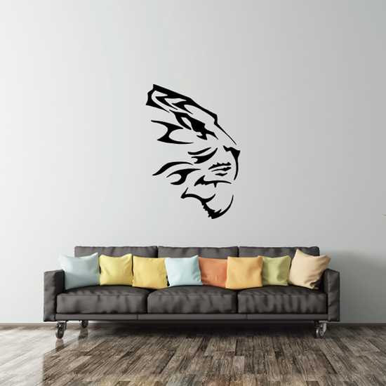 Tiger Head Side Facing Decal