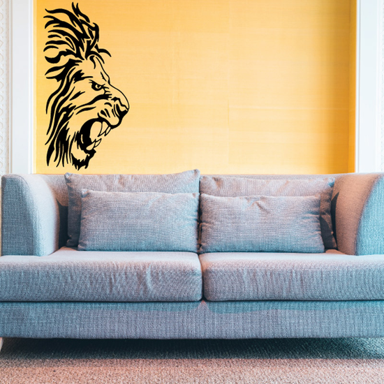 Angry Lion Head Decal
