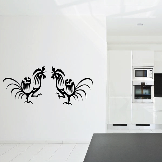 Fighting Rooster Decal