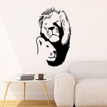 Cuddling Lion and Lioness Decal