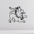 Medieval Lion Decal
