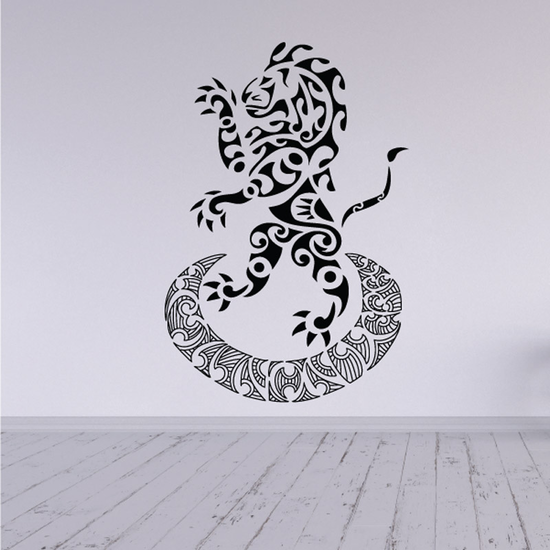 Intricate Tribal Lion Decal