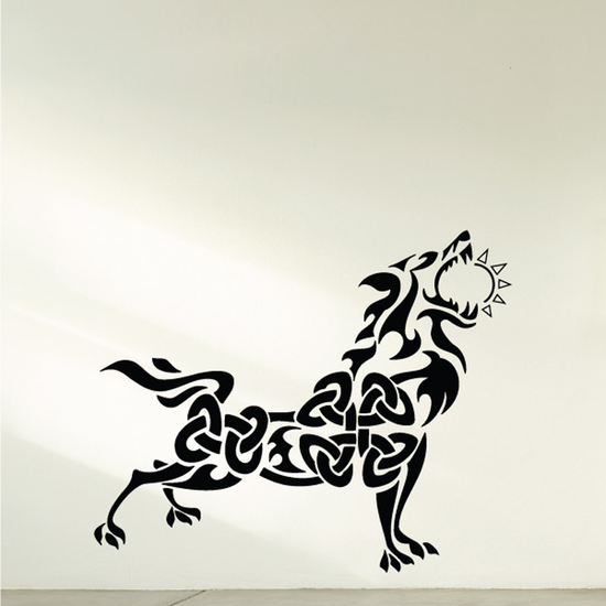 Celtic Style Wolf Decal