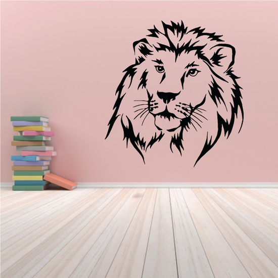 Staring Lion Head Decal