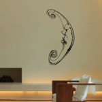 French Moon Decal