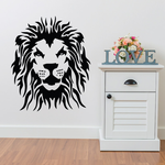 Glaring Lion Head Decal