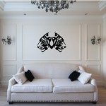 Double Tribal Lion Head Decal