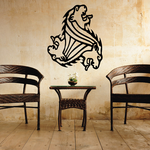 Interlocking Lion Head Decal