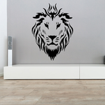 Solemn Lion Head Decal