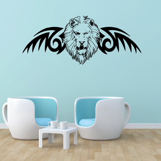 Winged Lion Head Decal