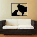 Lioness and Lion in Frame Decal