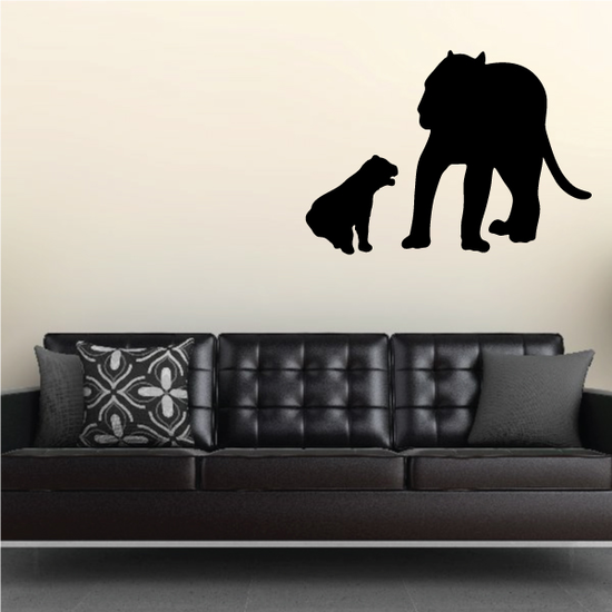 Cub and Female Lion Decal