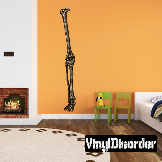 Skeleton Leg Bone Wall Decal - Vinyl Car Sticker - Uscolor002